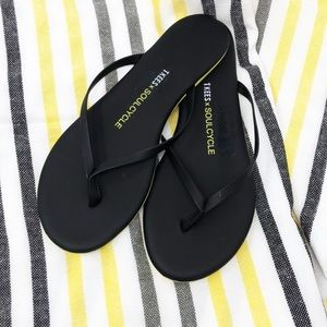 NWT 8 Soulcycle x TKEES Black Flip Flop NEVER WORN